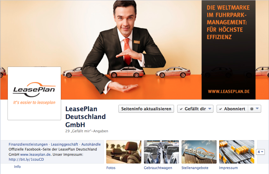 LeasePlan Deutschland GmbH launcht Social Media Profile